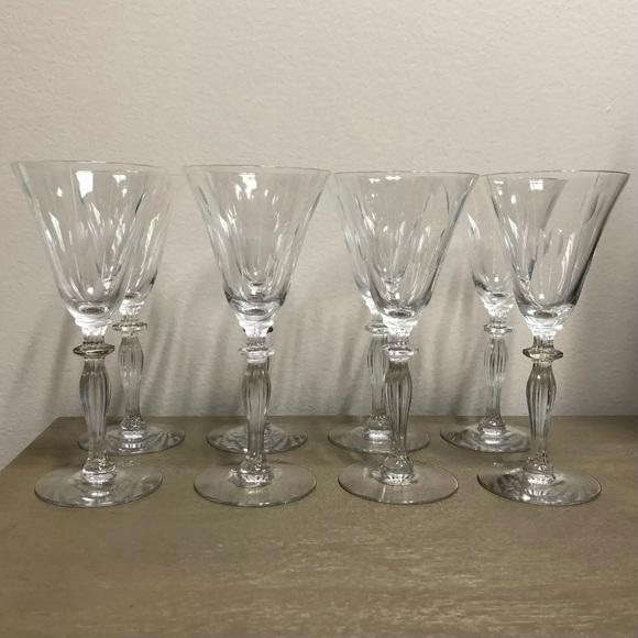 Vintage Crystal Wine Glass Set